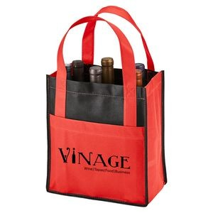 Toscana Six Bottle Non-Woven Wine Tote