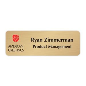 Name Plate w/UV Inkjet Logo & Engraved (15-19 Sq. Inches)