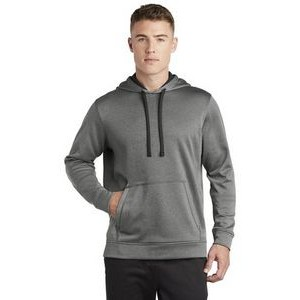 Sport-Tek® Men's PosiCharge® Sport-Wick® Heather Fleece Hooded Pullover