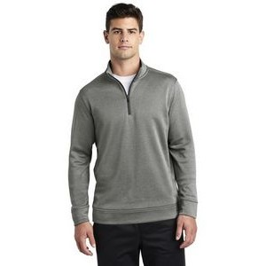 Sport-Tek® Men's PosiCharge® Sport-Wick® Heather Fleece 1/4-Zip Pullover