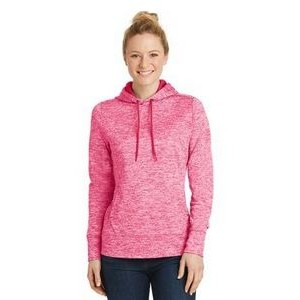 Sport-Tek® Ladies' PosiCharge® Electric Heather Fleece Hooded Pullover Sweater