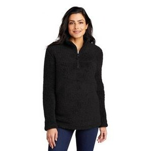 Port Authority® Ladies' Cozy 1/4-Zip Fleece Sweater
