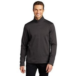 Port Authority® Men's Diamond Heather Fleece 1/4-Zip Pullover Sweater