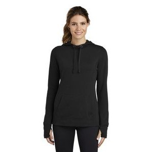 Sport-Tek® Ladies' PosiCharge® Tri-Blend Wicking Fleece Hooded Pullover Sweater