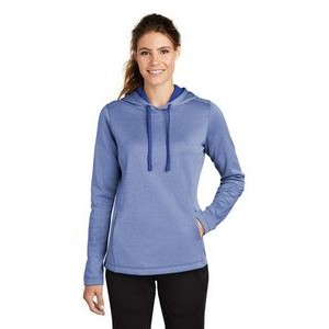 Sport-Tek® Ladies' PosiCharge® Sport-Wick® Heather Fleece Hooded Pullover