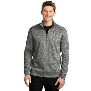 Sport-Tek® Men's PosiCharge® Electric Heather Fleece 1/4-Zip Pullover Sweater