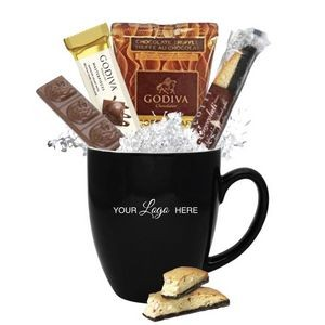 Godiva Chocolate & Cocoa Gift Mug (Black)