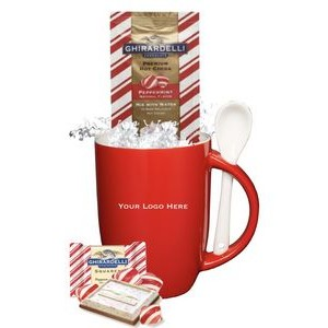 Holiday Peppermint Cocoa with Mug & Spoon