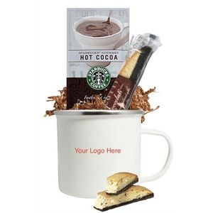 Enamel Camper Mug with Starbucks Cocoa and Cookie