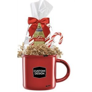Camper Mug with Holiday Cocoa & Candy Cane