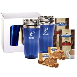 Set of 2 Tumblers with Cocoa & Chocolate