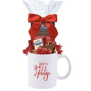 Happy Holidays Cocoa & Chocolate Gift Mug