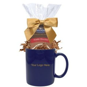 Hot Cocoa Gift Mug (Blue)