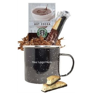Tin Camper Mug with Starbucks Cocoa and Cookie