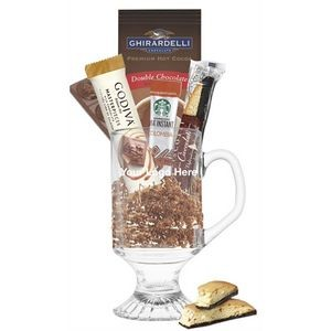 Best of Godiva, Starbucks, & Ghirardelli Glass Gift Mug