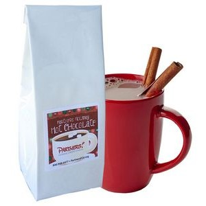 8 Oz. Hot Chocolate Bag w/Printed Label (White)
