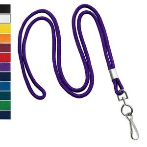 "1/8"" Round Blank Non-Breakaway Lanyards, Solid Colors"
