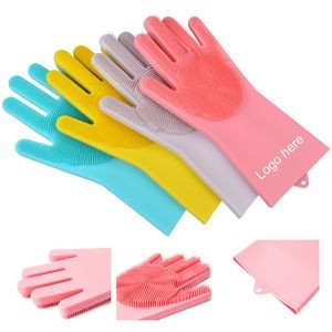 Silicone Cleaning Brush Scrubber Gloves