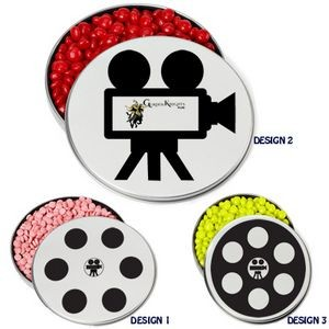 Slim Movie Reel Tin - Chocolate Covered Candy