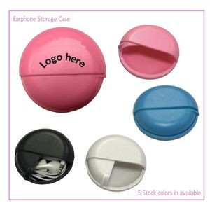 Small Earphone Round Caddy Case