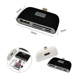 4 in 1 OTG/TF/SD Smart Card Reader Adapter for Mobile Phone