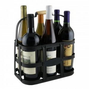 Six-Bottle Metal Wine Caddy