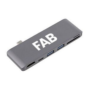 6-port Type-C Adapter Card Reader HDMI Hub