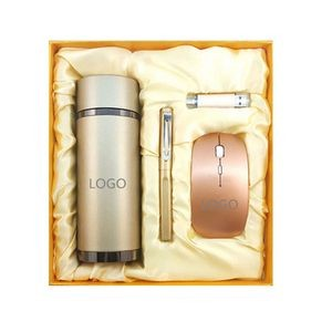 Wireless Mouse , Pen, 8G usb drive and Vaccum Cup Gift Set