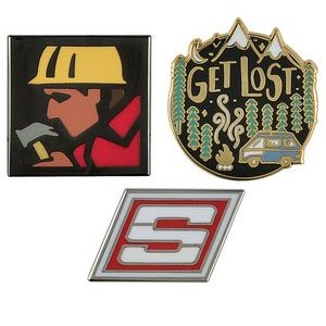 "Custom Lapel Pins - 7/8"" Cloisonne Hard Enamel"