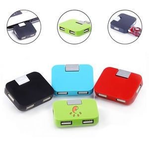 Portable Square Multi USB Folding Splitter
