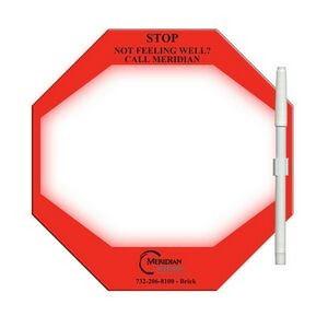 Stop Sign Offset Printed Memo Board