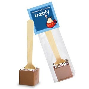 Hot Chocolate on a Spoon in Header Bag - Milk Chocolate & Peppermint