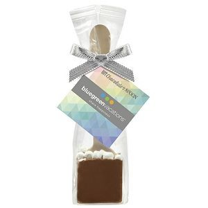 Hot Chocolate on a Spoon in Favor Bag - Milk Chocolate w/ Marshmallows