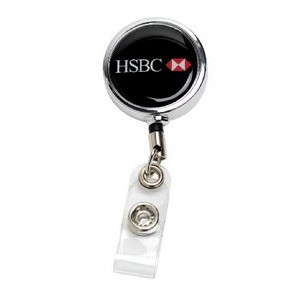 Chrome Metal Badge Reel