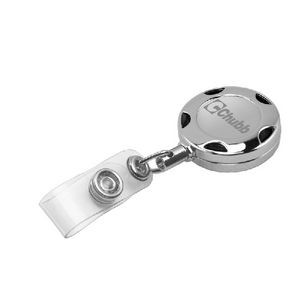 "32"" Turbo Chrome Metal Badge Reel w/ Laser Engraved"