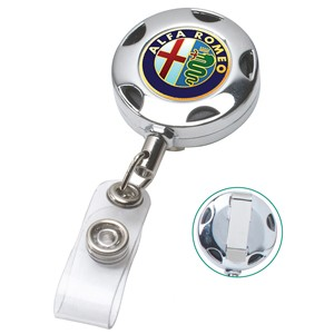 "32"" Turbo Chrome Metal Badge Reel w/ Metal Slip Clip"
