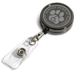 "30"" Gunmetal Badge Reel Laser Engraved"