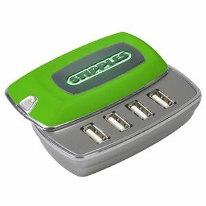 4 Port Slide Top Glow USB Hub V2.0