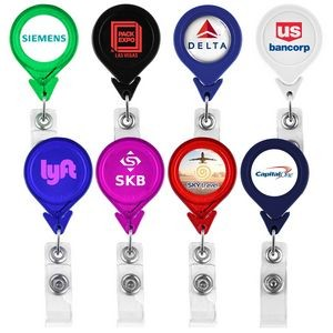 Tear Drop Retractable Badge Holder (Direct Import - 10 Weeks Ocean)