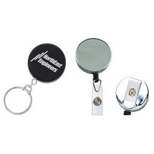 Heavy-Duty Retractable Badge Holder with Color Dome Insert