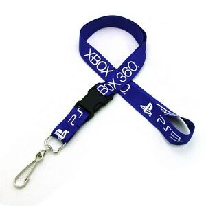 "3/4"" Silkscreened Flat Lanyard w/Detachable Buckle"