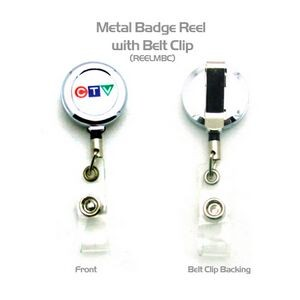 Metal Badge Reel w/ Back Clip