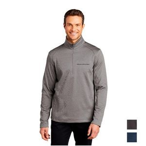 Port Authority ® Diamond Heather Fleece 1/4-Zip Pullover