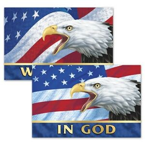 "3D Lenticular Magnet/ Patriotic Images with Text ""In God We Trust"" - 4""x6"" (Blank)"