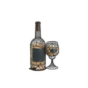 Cork Caddy™ - Bottle and Glass