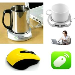 iBank(R)4 Port Hub+Cup Warmer+2.4GHz Wireless Mouse(Yellow)