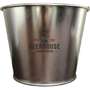 Galvanized 5QT Bucket with metal handle