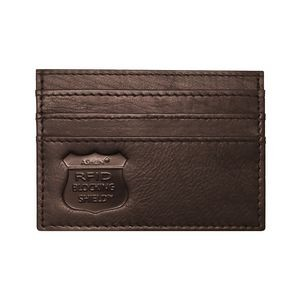 Ashlin® Designer Lorello Expresso Brown RFID Blocking Card Caddy