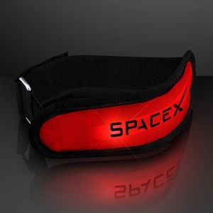 Custom Light Up Red LED Armbands for Night Safety