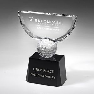 "8"" Crowned Golf Trophy"